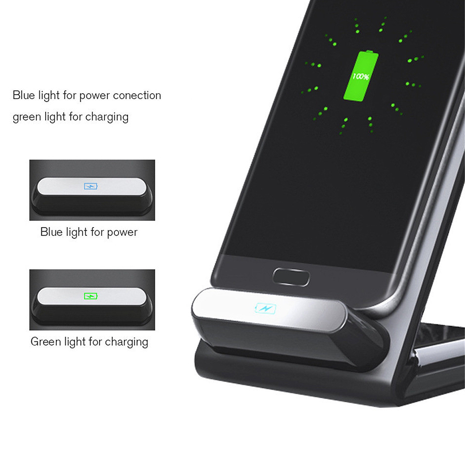 10w qi fast wireless charging stand for samsung galaxy s9 plus. Black Bedroom Furniture Sets. Home Design Ideas